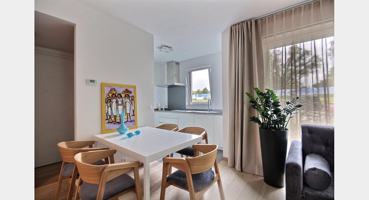 Woluwe St. Lambert: Luxueux appartement meublé moderne avec terrasse
